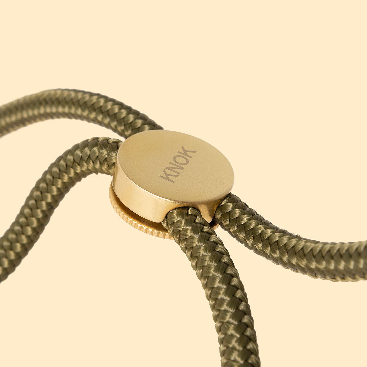 KNOK CASE -  Smartphone necklace -CUSTOM CORD (OLIVE)