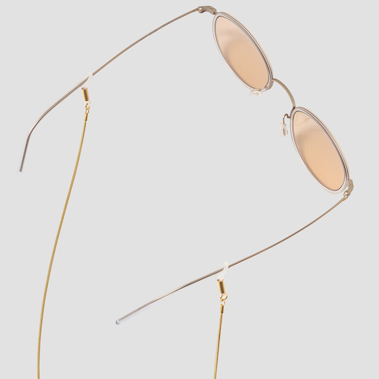 KNOK 14K gold plated Baem Glasses chain shown with sunglasses