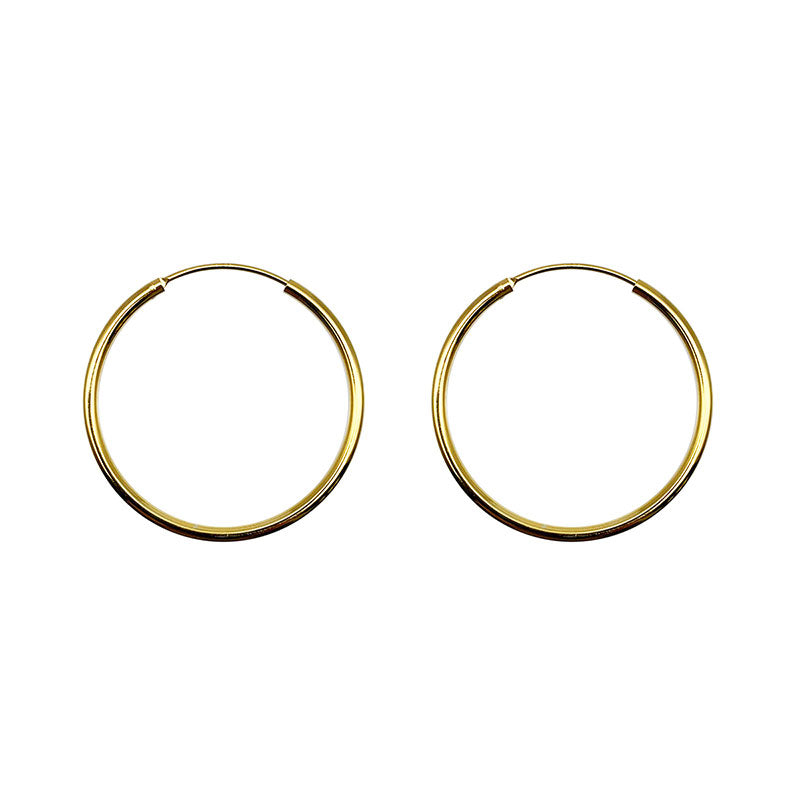 925 Sterling Silver HOOP earing (Gold) in Large -KNOK STORE