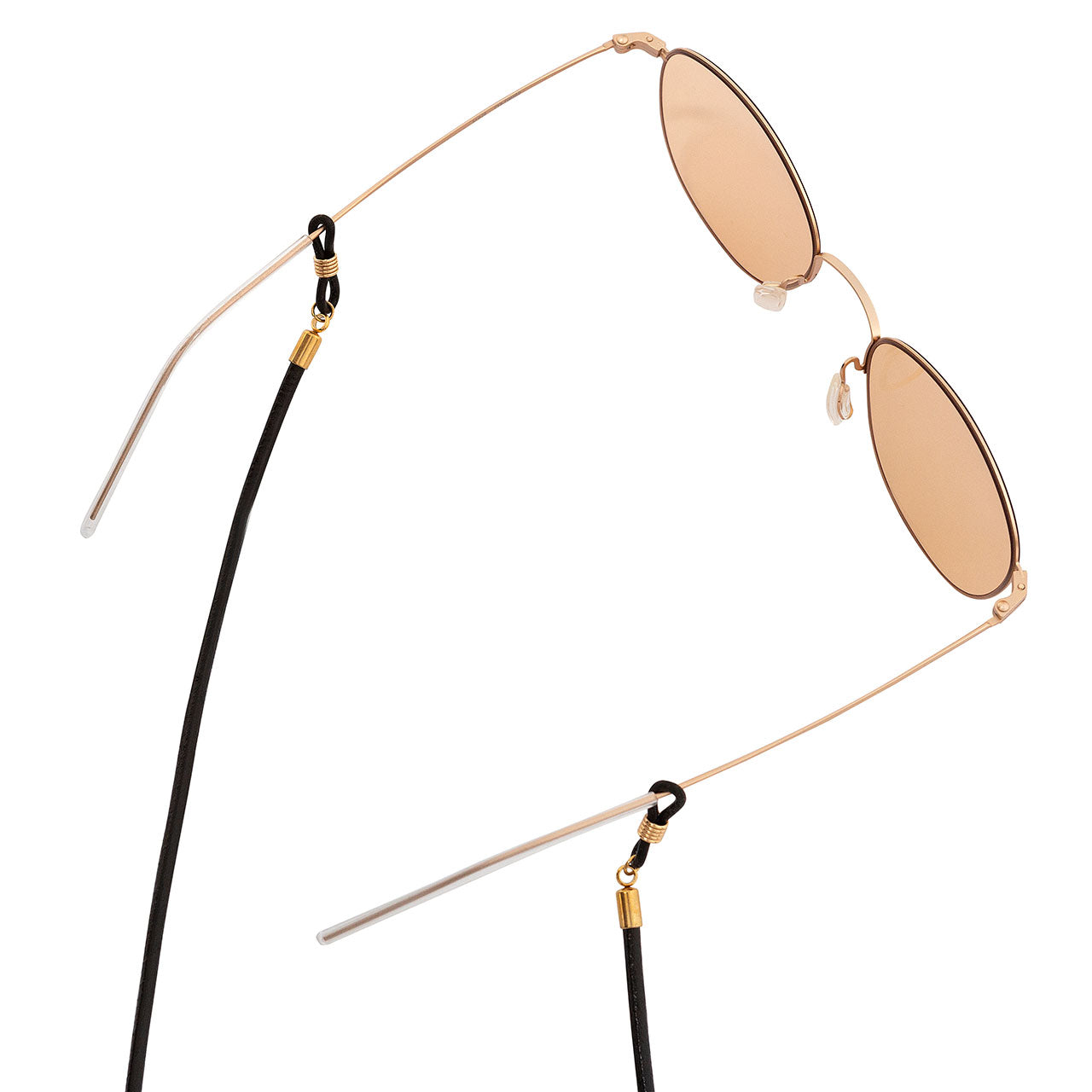 KNOK glasses chain in Black Leather detail