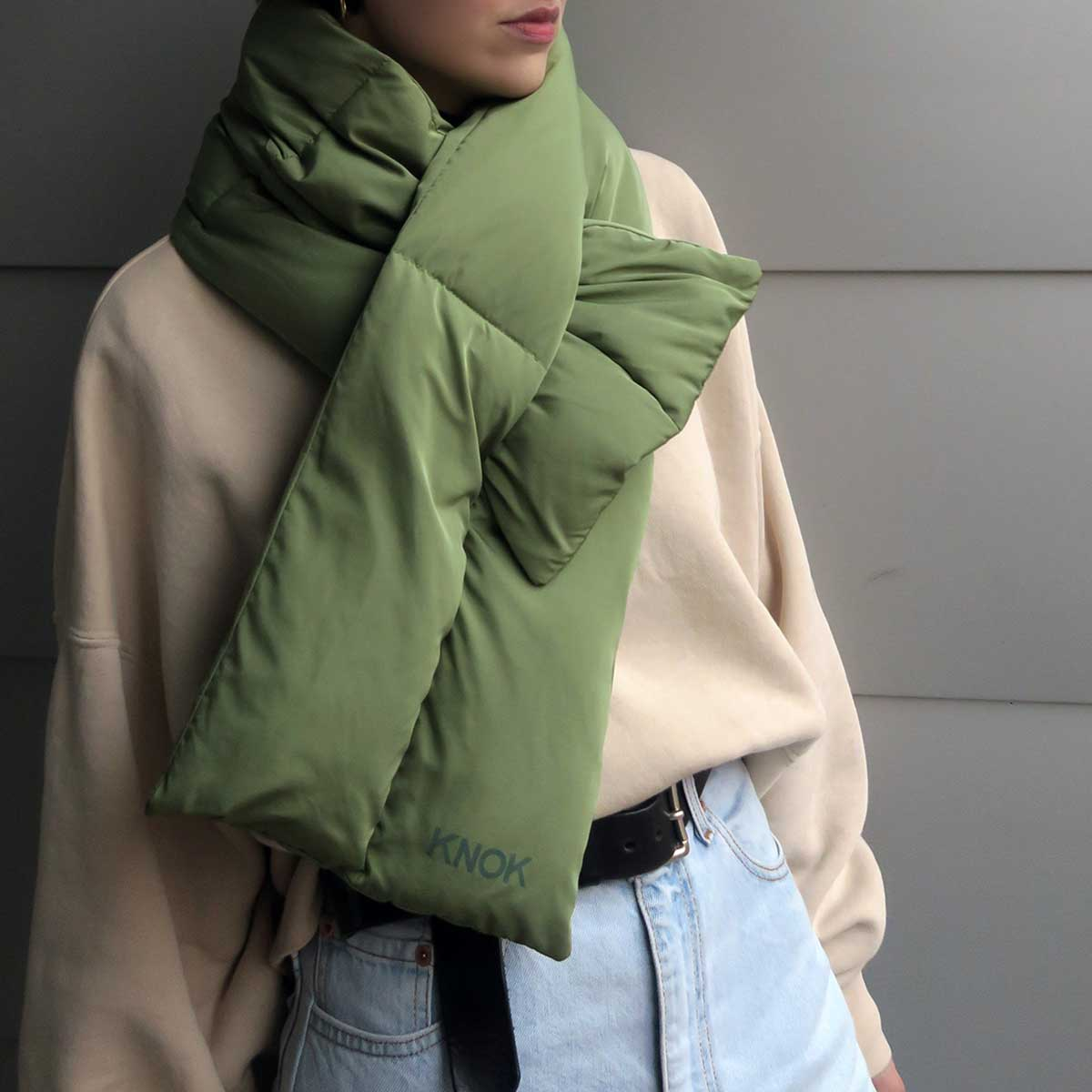 PADDED SCARF (OLIVE)