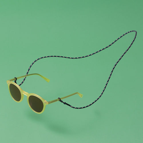 knok glasses chain camo color with yellow sunglasses