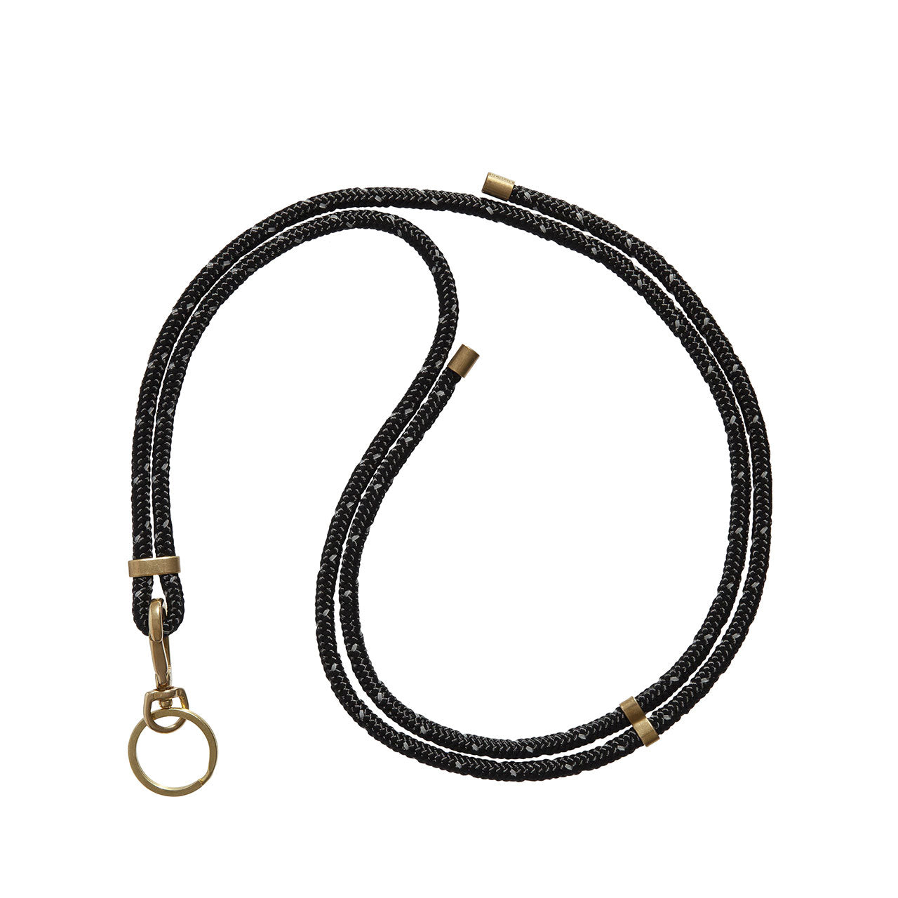KNOK Key Holder Lanyard in black reflect - with added reflective material