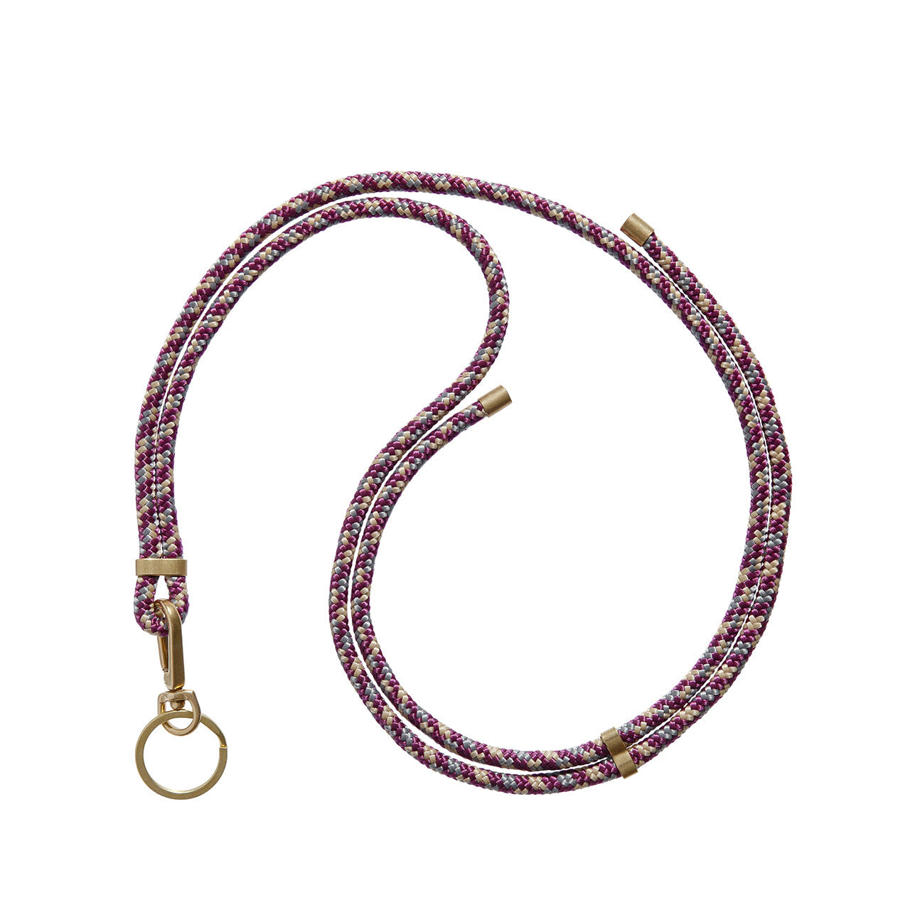 KNOK Key Holder Lanyard in multicoloured Bordeaux