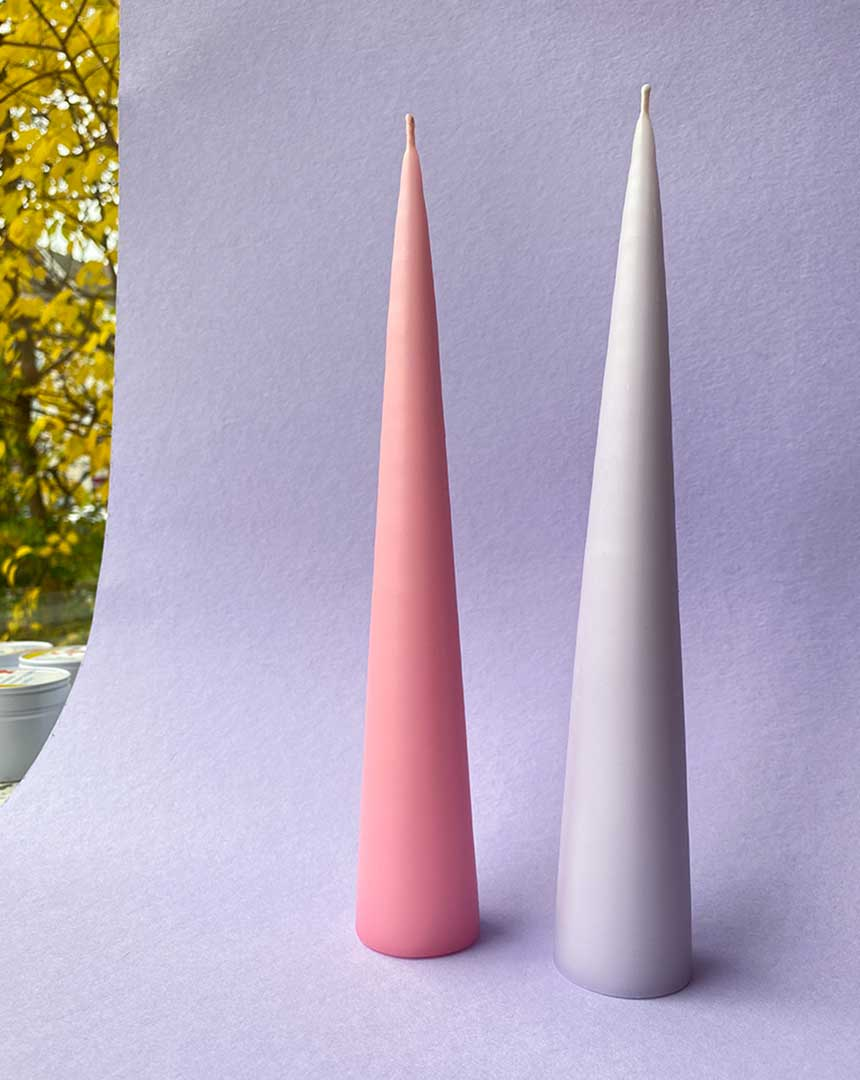 CONE CANDLE (LILAC ICE) - KNOK