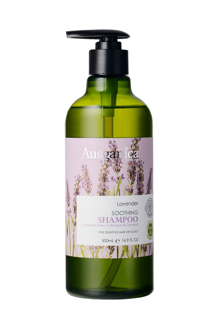 Lavender Soothing Organic Shampoo. Sulfate free.