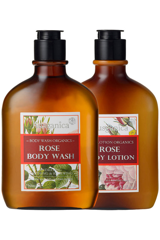 Save on the Rose Body Wash and Rose Body Lotion Set