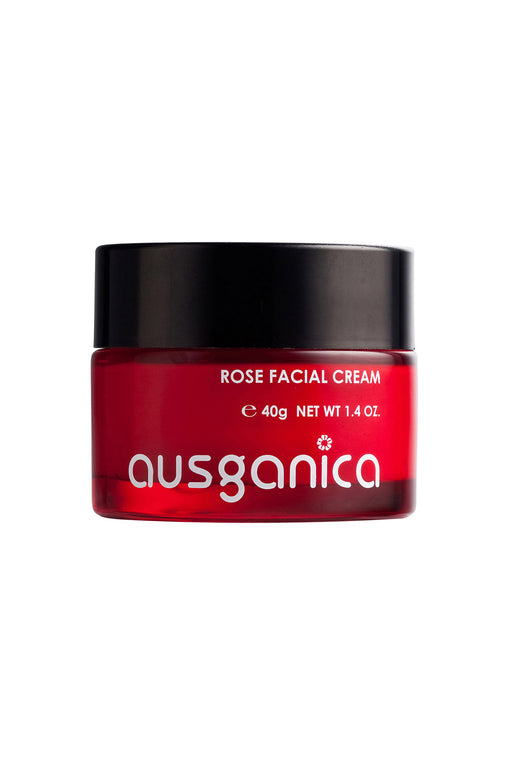 Rose Facial Cream Organic Face Moisturizer with Organic Hyaluranic Acid for lines and moisturizing.