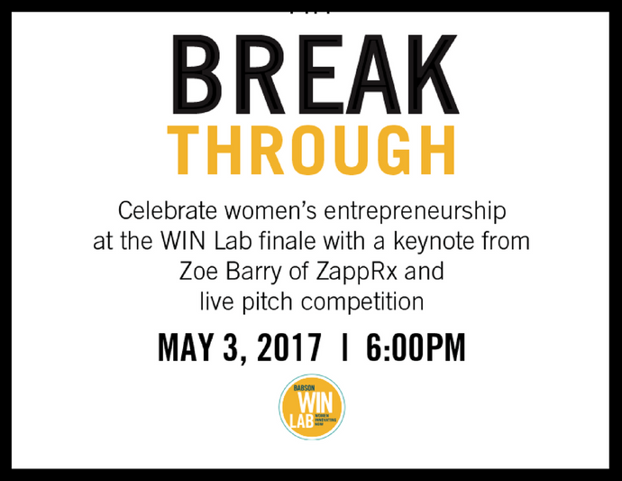 May 3 - WIN Lab Breakthrough Pitch Competition