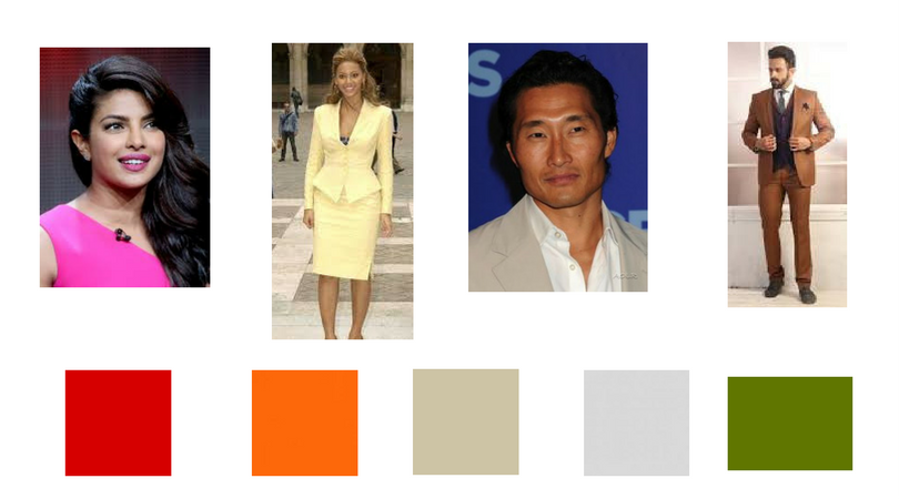Colors for warm skin tones