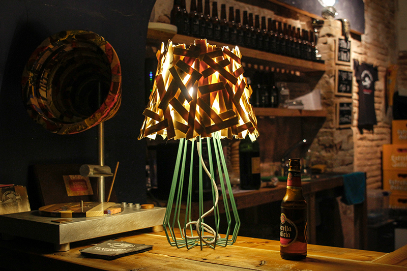 Palitos Lamp by Sergio Mendoza