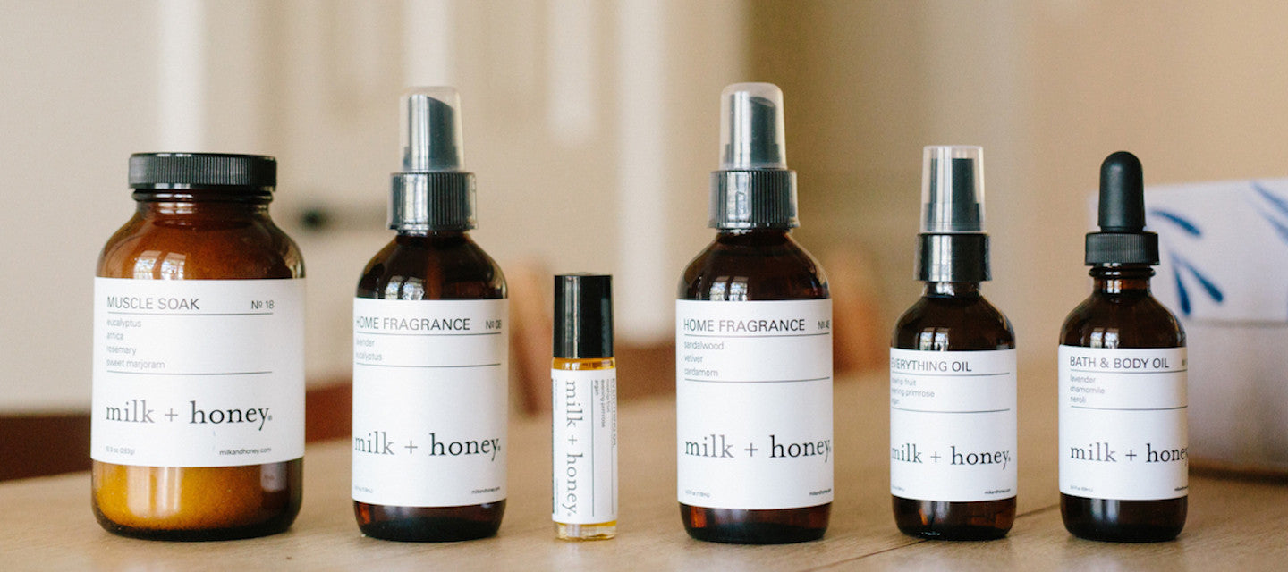 Meet Our</br>milk + honey Products
