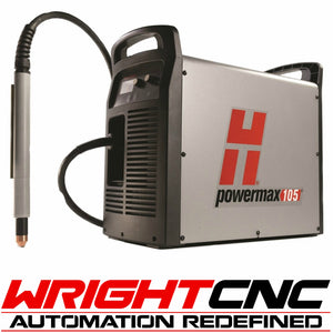 Hypertherm Powermax 105 Plasma Cutter with Machine Torch System & Comm. Cord