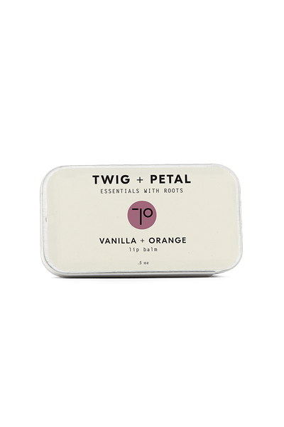 Twig+Petal 1/2 oz. Vanilla + Orange Lip Balm