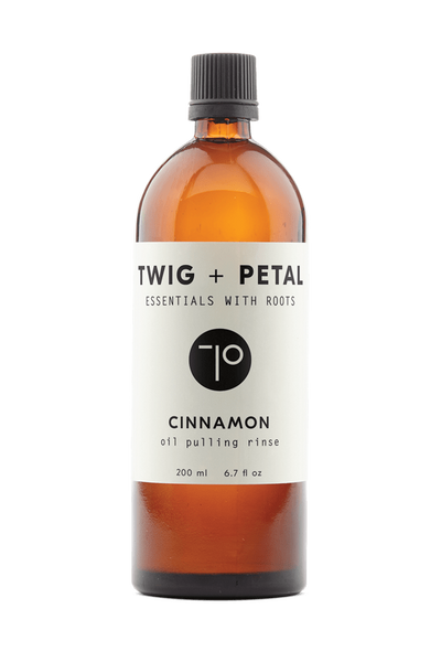 Twig+Petal 200 ml 6.7 fl oz Cinnamon Oil Pulling Rinse