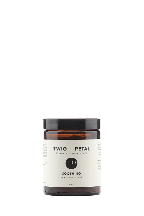 Twig+Petal Soothing Raw Sugar Scrub