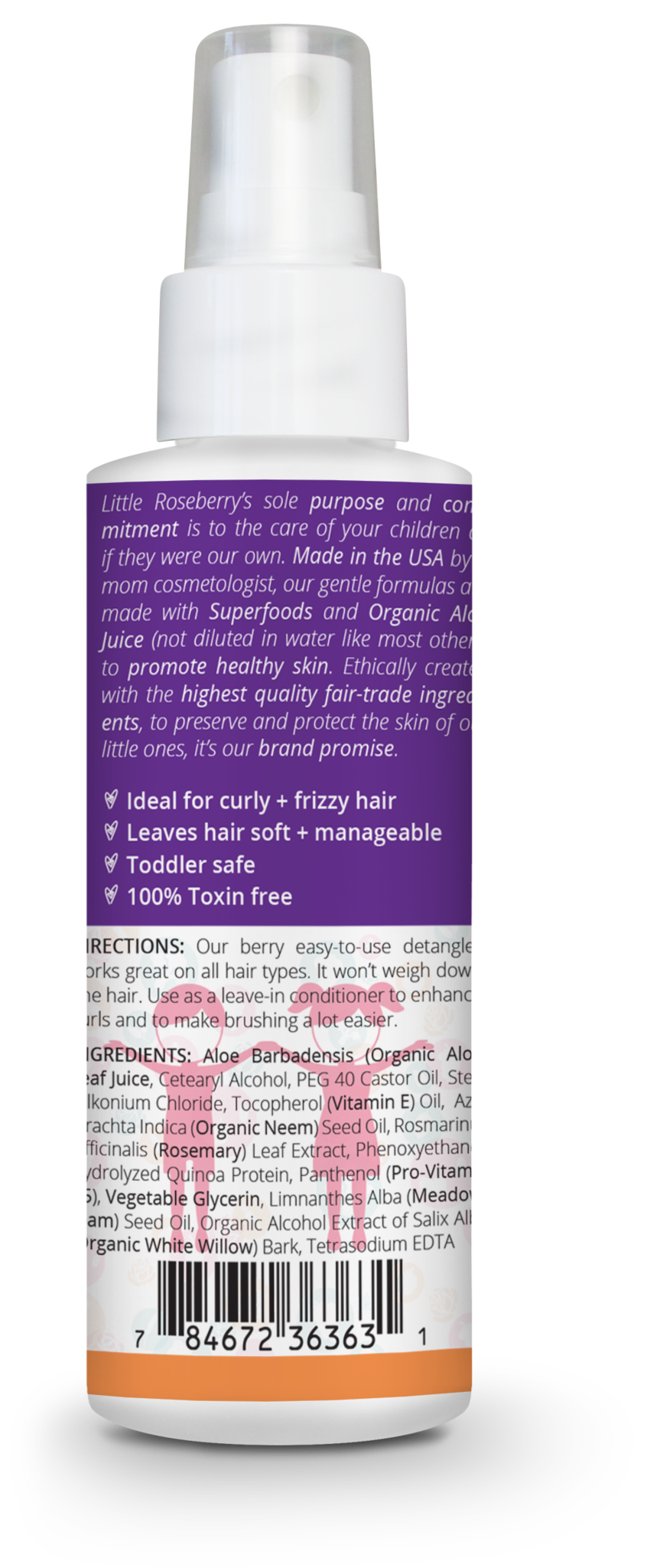 Two Pack Hair Detangler Spray for kids