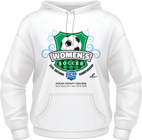 3d65fc83 2016 NJCAA Women's Soccer DIII National Championship White Hoodie