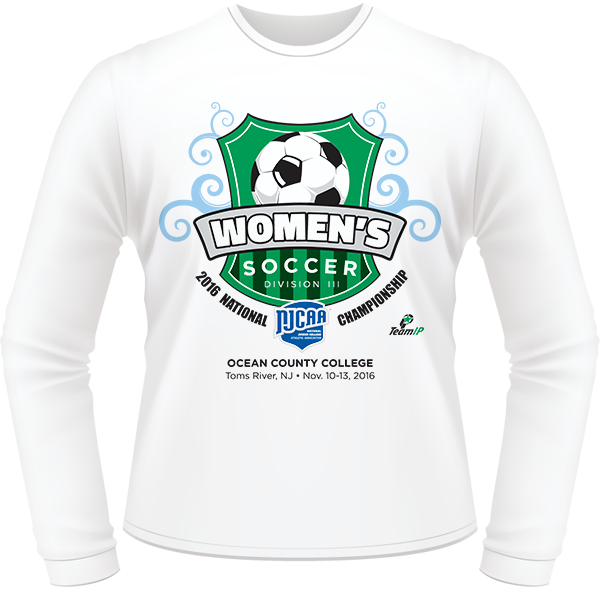 7abcbf7a 2016 NJCAA Women's Soccer DIII National Championship White Long Sleeve