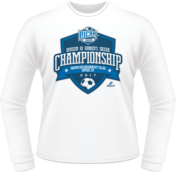 ad149a20 2017 NJCAA Women's Soccer DIII National Championship White Long Sleeve ...