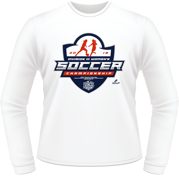 64a258c8 2018 NJCAA Women's Soccer DIII National Championship White Long Sleeve