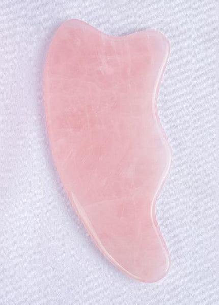 ROSE QUARTZ Wave GUA SHA Scraping Massage Tool