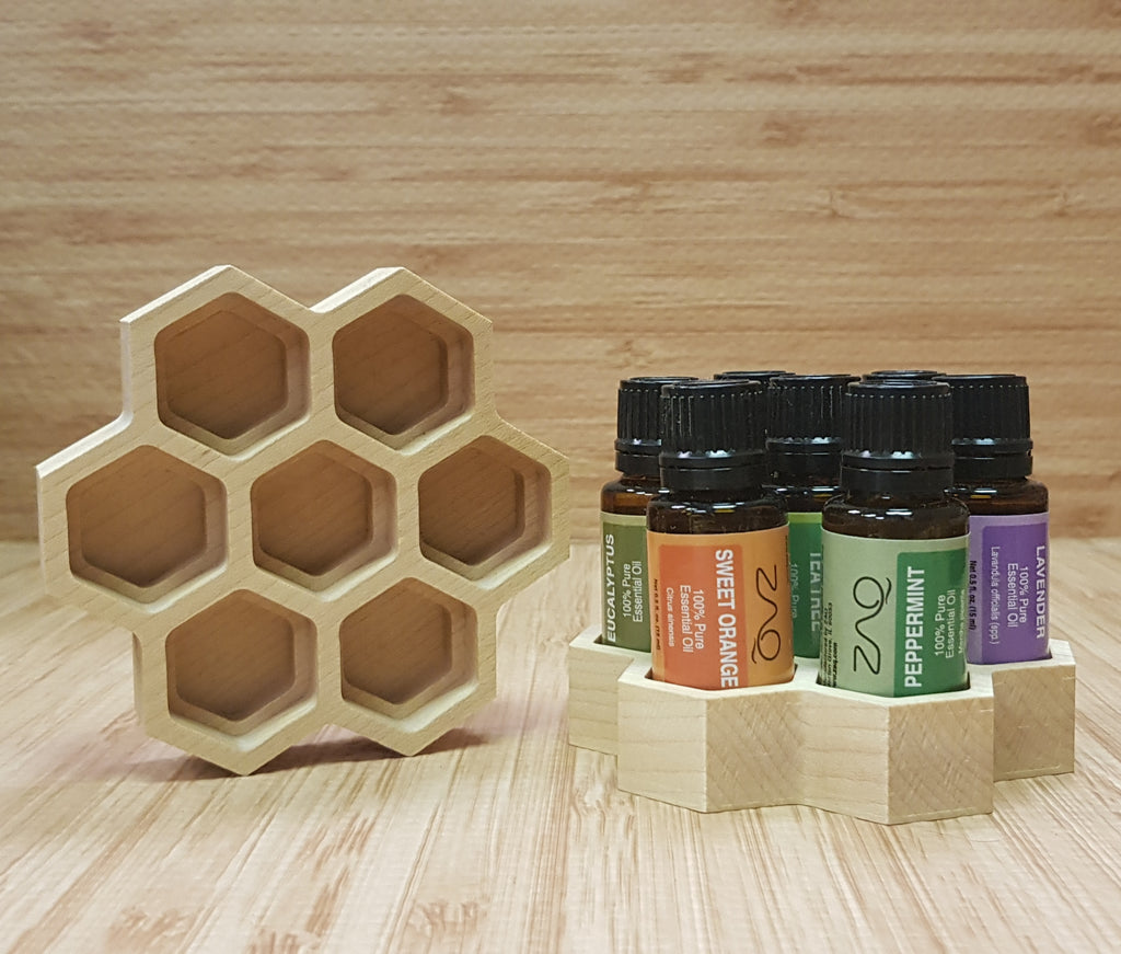 Essential Oils Honeycomb Holder for 15ml or 5ml Bottles - Handmade