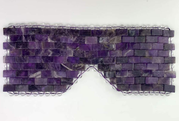 Amethyst EYE MASK- Handmade