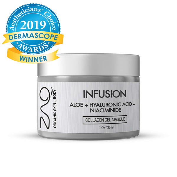 ZAQ Organic Infusion Collagen Gel Masque - Aloe + Hyaluronic Acid + Niacinamide