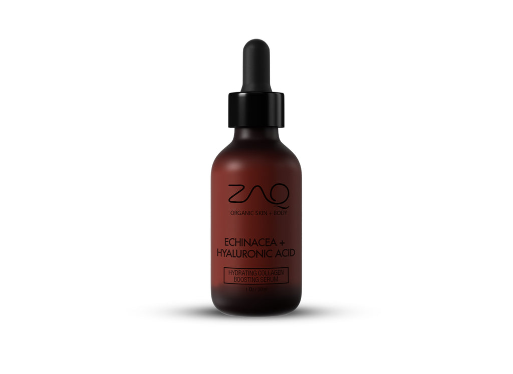 ZAQ Organic Hydrating Collagen Boosting Serum - Antioxidants, Hyaluronic Acid and Echinacea Stem Cells