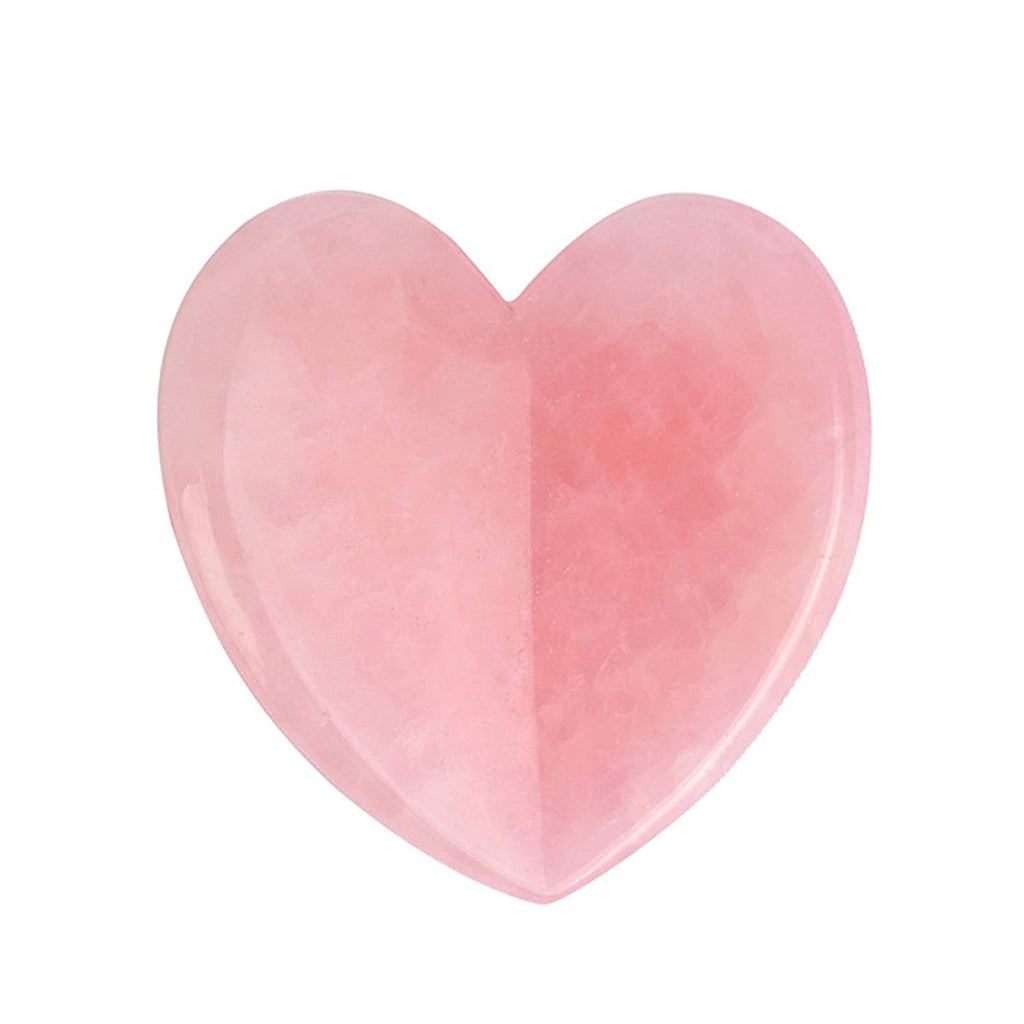 Rose Quartz Heart Facial Gua Sha Scraping Massage Tool