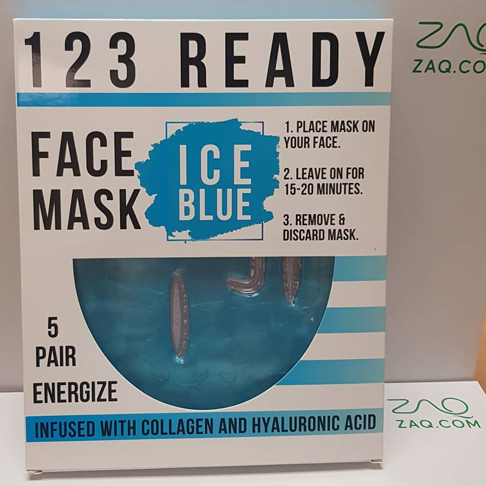Ice Blue Gel Face Mask 5 Pc