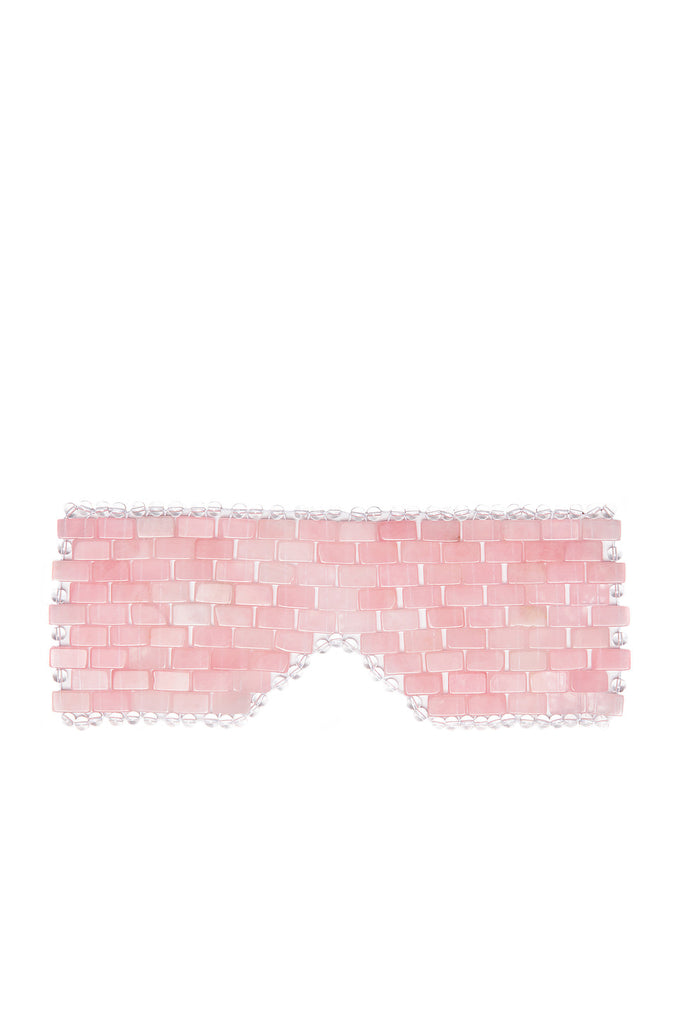 ROSE QUARTZ EYE MASK - Handmade