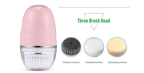 Rechargeable Soft Cleansing Brush 3 in 1