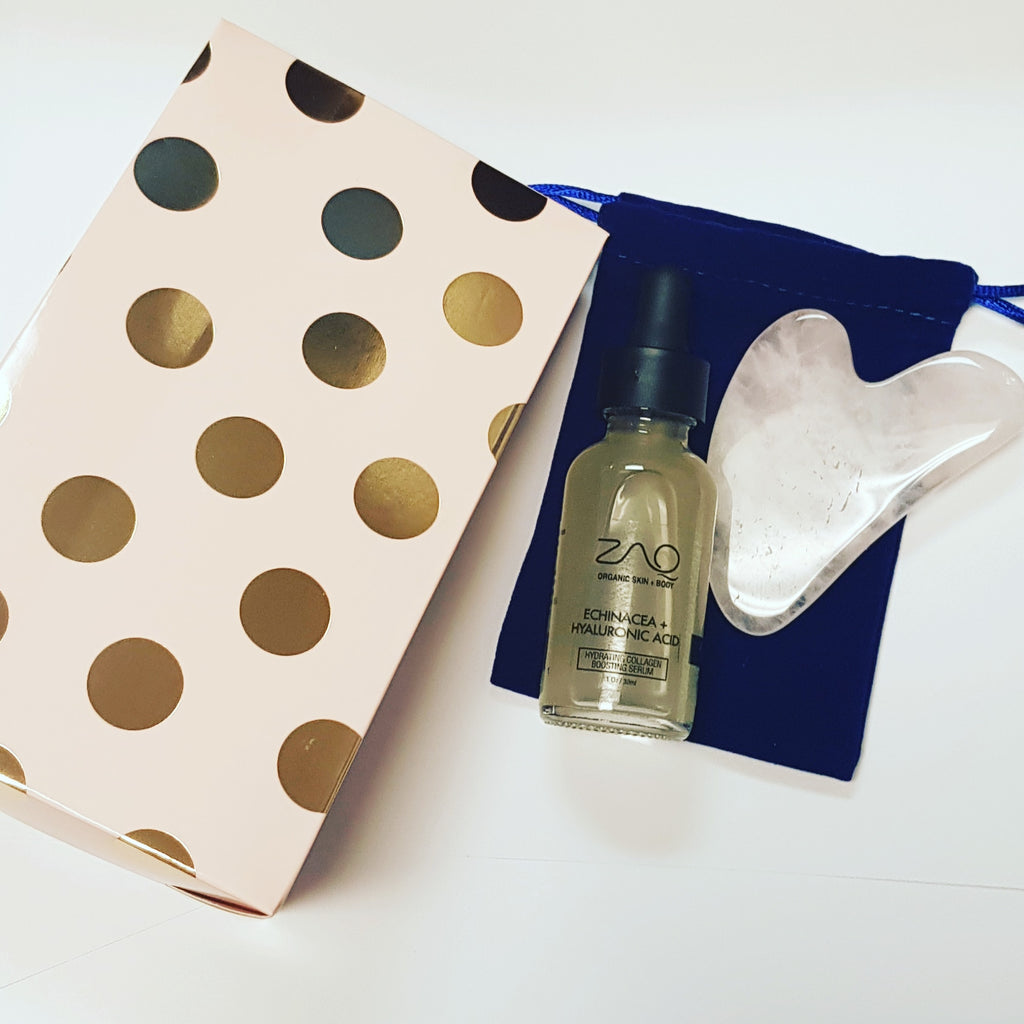 Hydrating Collagen Boosting Serum + Rose Quartz Gua Sha Set