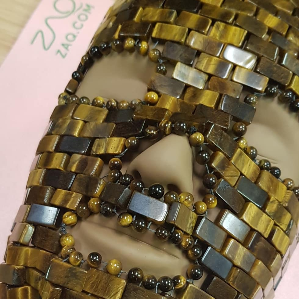 ZAQ Tiger Eye FACE MASK - Handmade