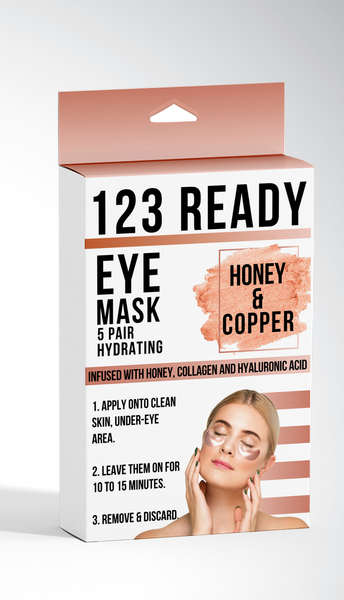 123 Ready HONEY & COPPER HYDRATING GEL EYE PATCHES 5PC