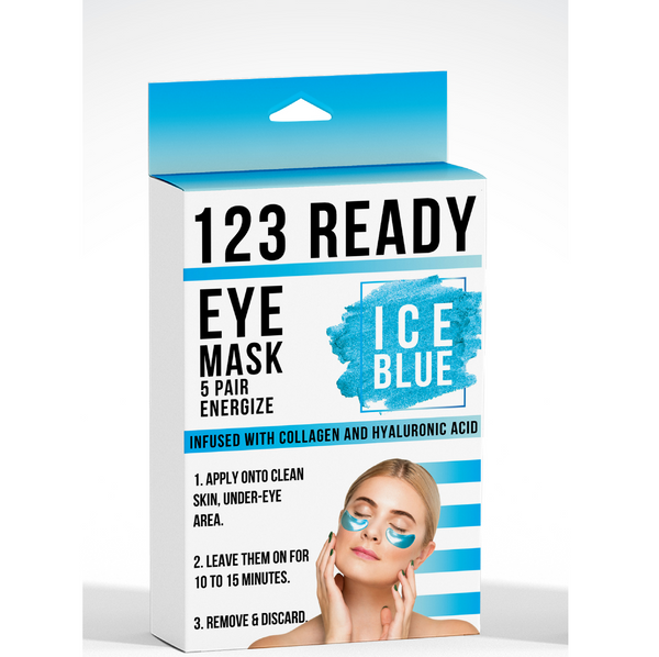 123 Ready ICE BLUE ENERGIZE GEL EYE PATCHES 5PC