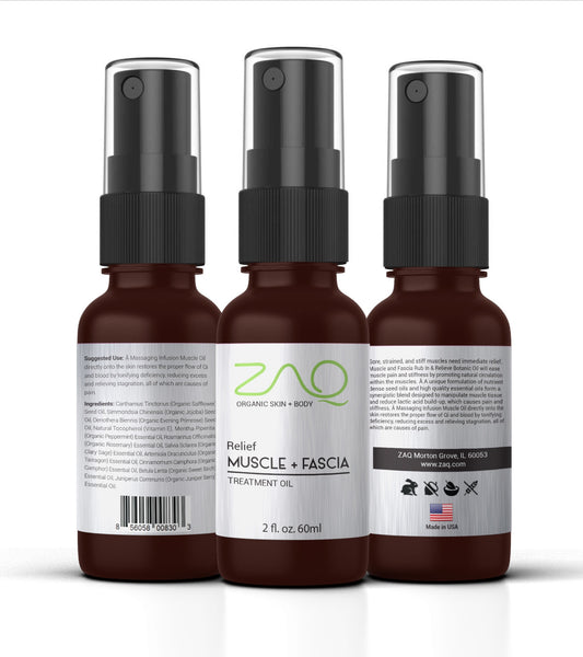 ZAQ Relief Muscle and Fascia Rub In & Relieve Botanic Oil Treatment Oil 2oz