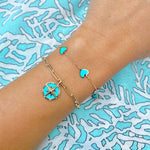 Turquoise Compass Charm