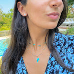 Blue Enamel Bead Necklace