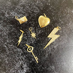 Thin Lightning Bolt Diamond Charm