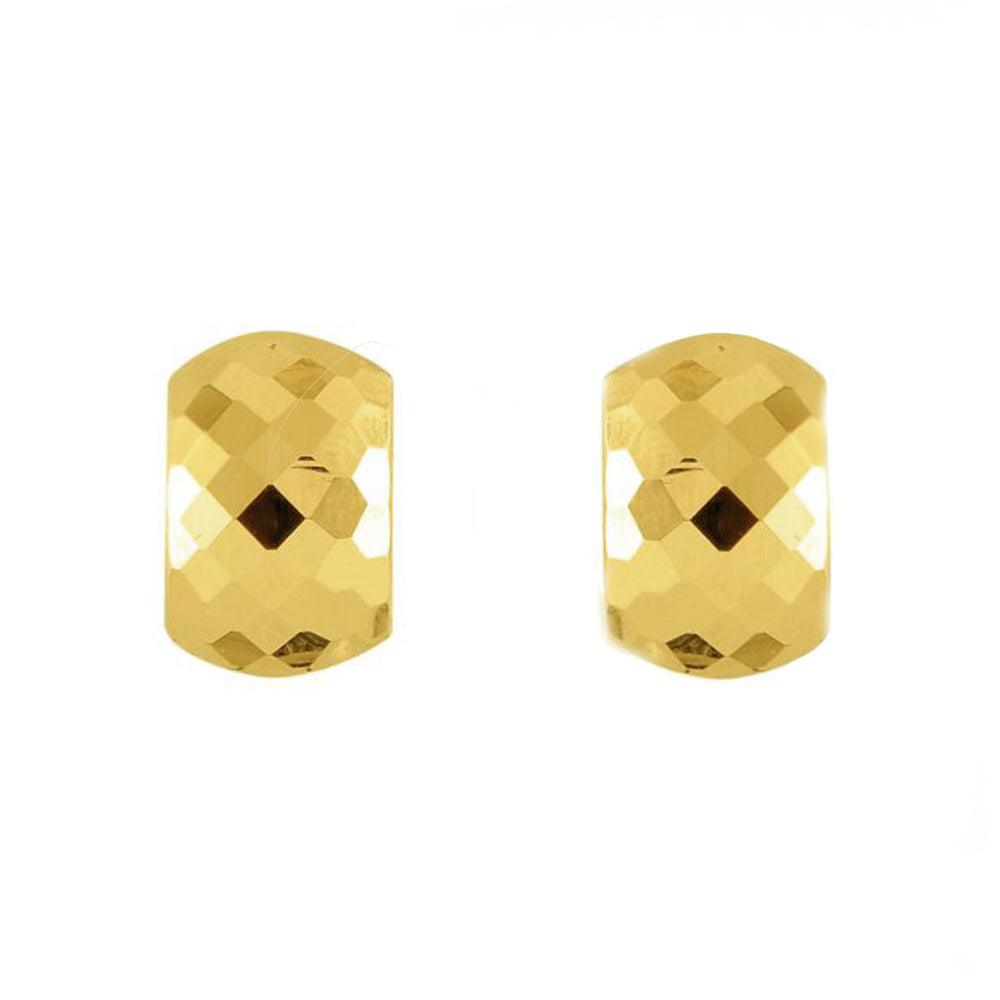 Faceted Huggie Earrings