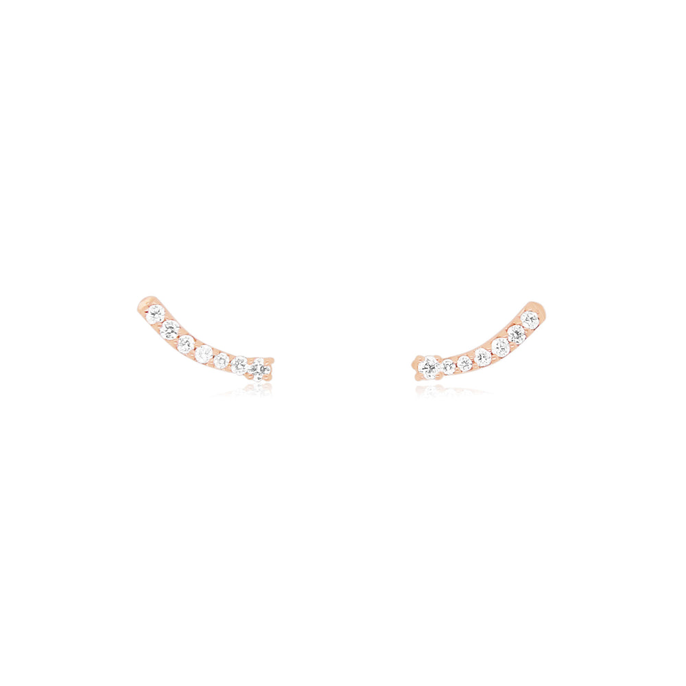 Mini Diamond Ear Climber Earrings
