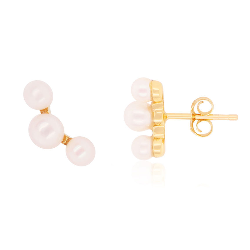 Pearl Ear Climber Earrings