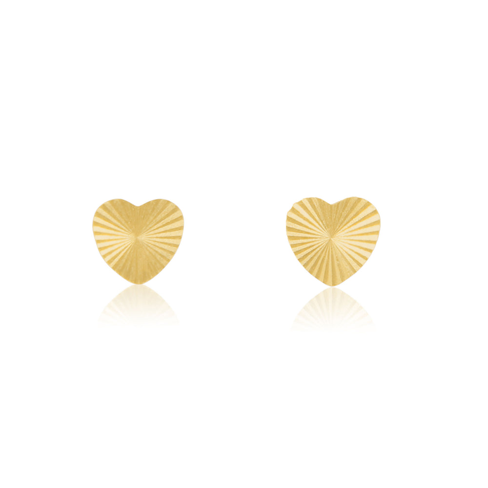 Vintage Inspired Heart Stud Earrings