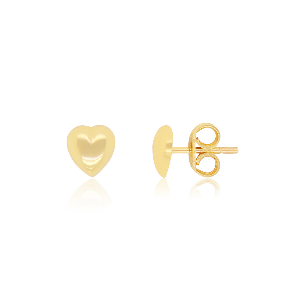 Mini Puffy Heart Stud Earrings