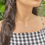 Mini Mother of Pearl Heart Necklace