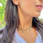 Baguette Malachite Necklace