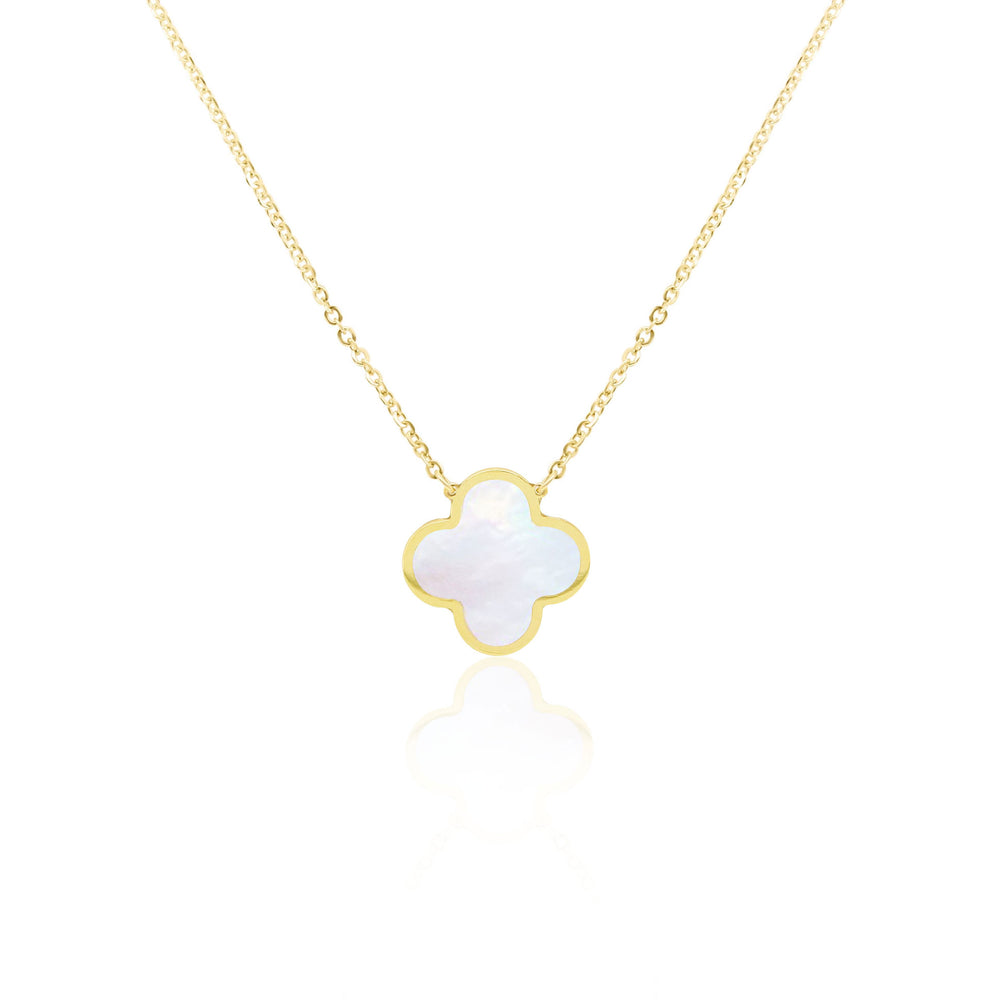 Mother of Pearl Single Clover Necklace
